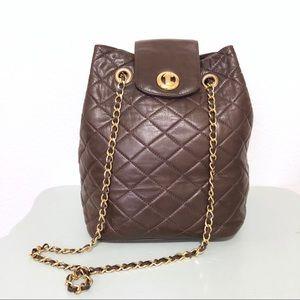 Vintage 80s a. testoni Italian Genuine Leather Bag